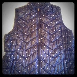 Polka dot puffer vest